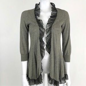 Guinevere Anthropologie XS Open Front Cardigan